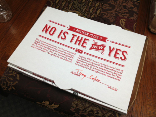 Hey Social Justice Tumblogs! I got you a present! It's a pizza box you can get preposterously angry about!  Happy valentine's day!