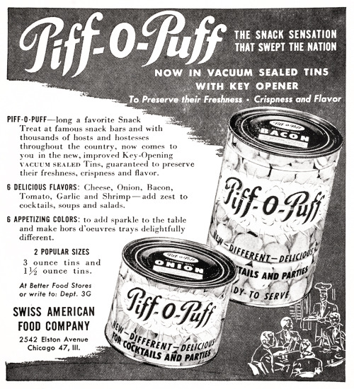 chrismohney:  thewayweate:  Piff-O-Puff Advertisement - Gourmet: March 1951  what are you