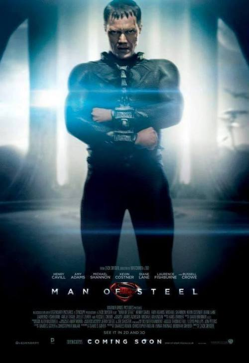 Man of Steel Characters Posters of Jor-El, Superman, and General Zod