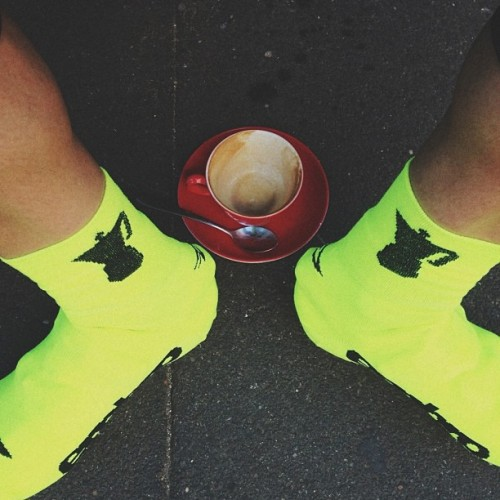 Even my shoe socks have coffee on the go..  (at MostDefinitelyNotStarBucks)