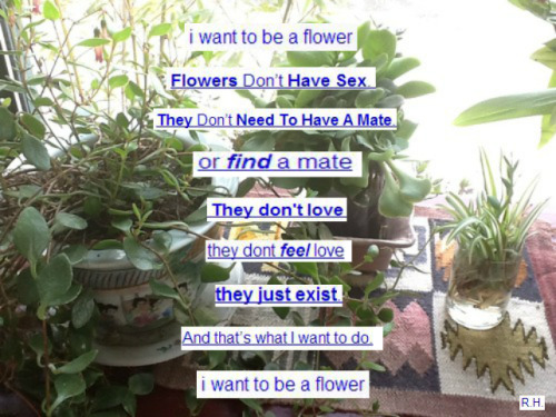 prevaill:  I want to be a flower