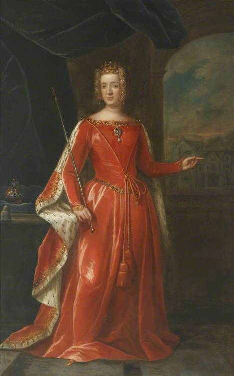 historysquee:  Philippa of Hainault By Thomas Murray Oil on canvas, 1710  I love Philippa. I love Philippa so much.
