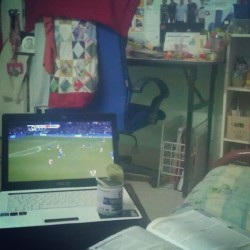 My 2 favourite teams on a Sunday night and aloevera.#AFCvCFC #EPL #love #football