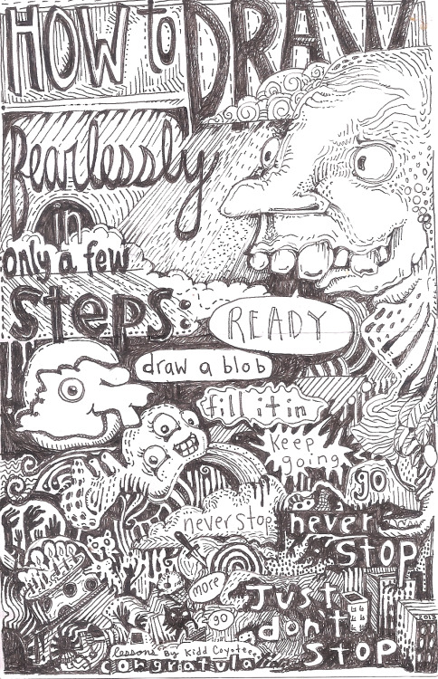 eatsleepdraw:  'How to draw' ink on crappy paper by kidd coyote indoors pacific northwest, usa monsterperks.tumblr.com