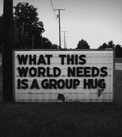 wecanflynoww:  group hug | via Tumblr on We Heart It - http://weheartit.com/entry/59769182/via/heavenshining   Hearted from: http://youngheart0.tumblr.com/post/48802567780