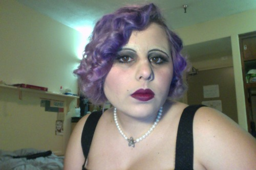 There was a 1920s night, I went a bit all out. I glued down the eyebrows and kept tiny foam rollers in my hair for hours.