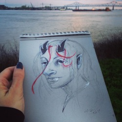 sketch-by-the-river