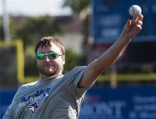 Mark Buehrle has reported for Blue Jays Spring Training.Courtesy of Yahoo/AP