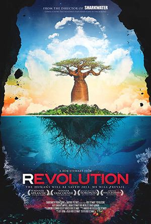 Revolution is a film about changing the world. The true-life adventure of Rob Stewart, this follow-up to his acclaimed SHARKWATER documentary continues his remarkable journey; one that will take him through 15 countries over four years, and where he'll discover that it's not only sharks that are in grave danger — it's humanity itself.In an effort to uncover the truth and find the secret to saving the ecosystems we depend on for survival, Stewart embarks on a life-threatening adventure. From the coral reefs in Papua New Guinea and deforestation in Madagascar to the largest and most destructive environmental project in history in Alberta, Canada, he reveals that all of our actions are interconnected and that environmental degradation, species loss, ocean acidification, pollution and food/water scarcity are reducing the Earth's ability to house humans. How did this happen, and what will it take to change the course that humanity has set itself on?Travelling the globe to meet with the dedicated individuals and organizations working on a solution, Stewart finds encouragement and hope, pointing to the revolutions of the past and how we've evolved and changed our course in times of necessity. If people were informed about what was really going on, they would fight for their future — and the future of other generations. From the evolution of our species to the revolution to save it, Stewart and his team take viewers on a groundbreaking mission into the greatest war ever waged.Startling, beautiful, and provocative, Revolution inspires audiences from across the globe to start a revolution and change the world forever.