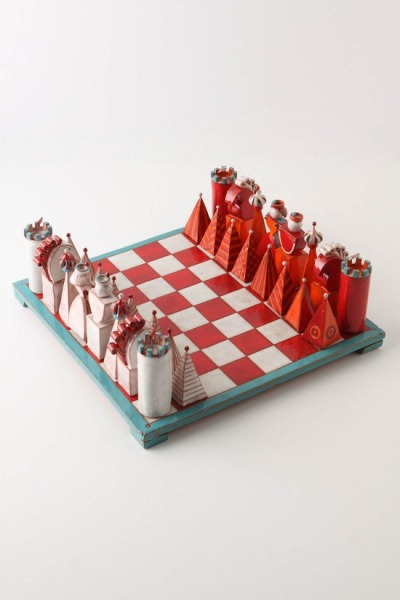 cutielittledimple:  terracotta chess set at anthropologie