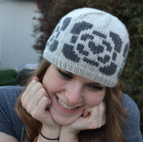 (via Portal Companion Cube Knit Beanie Hat Light Grey by GordianKnits)