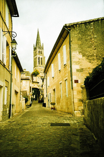 | ♕ |  Romanesque church in Saint-Émilion  | by © Marcio Serpa The town was named after the monk Émilion, a travelling confessor, who settled in a hermitage carved into the rock there in the 8th century. It was the monks who followed him that started up the commercial wine production in the area. [Ref. Wiki]