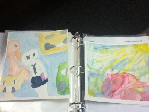 My first real water color paintings! Thanks to my friend!!