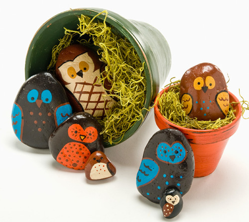 Owl Rocks {Inspiration}  Found at: plaidkidscrafts