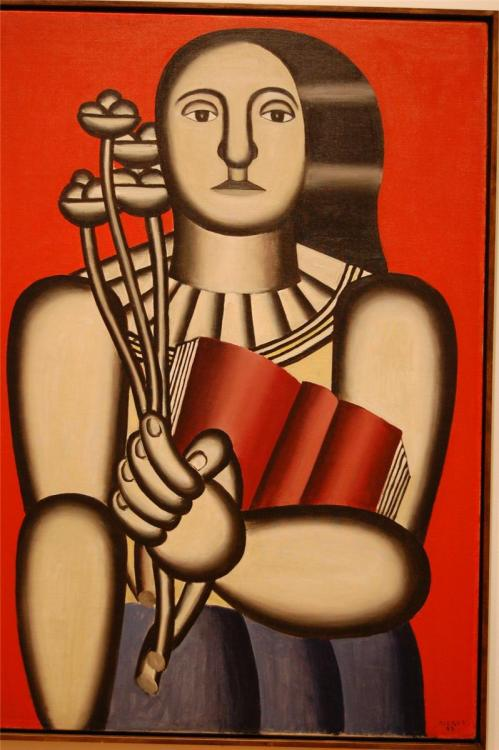 loftcultural:  Fernand Leger - Woman with a Book (1923)