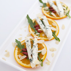 Orange Blue Cheese Appetizer