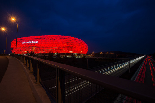 stadium-love-:  München by Anthony Latchem Allianz Arena in Munich, Germany