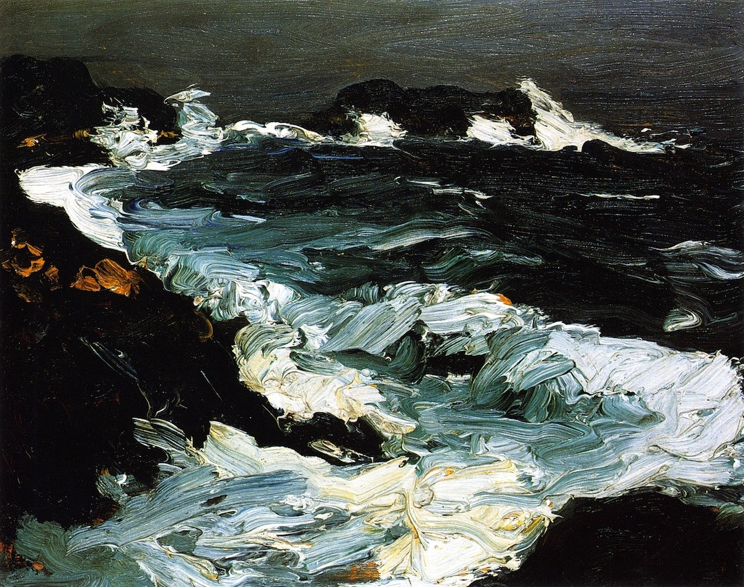 likeafieldmouse:  Robert Henri - Rough Seas Near Lobster Point (1903)