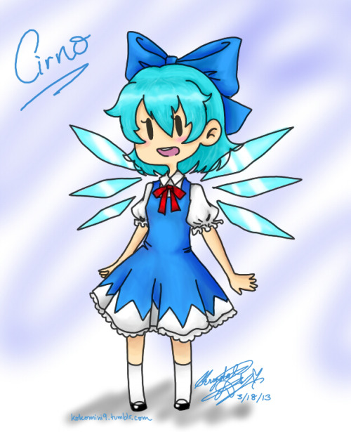 i tried using my tablet and then cirno.