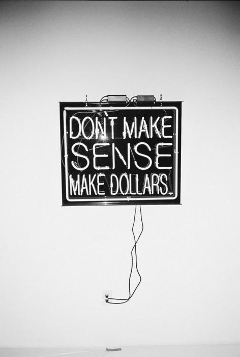 anarchycamp:  Don't make sense, make dollars.
