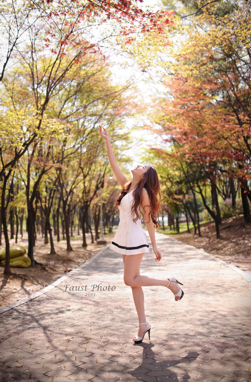 girlsbravo:  CuteKorean: Jeon Da Huin Outdoor