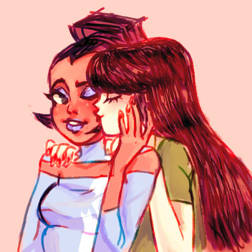 manlysporkle:  a quick doodli of them girlfriens