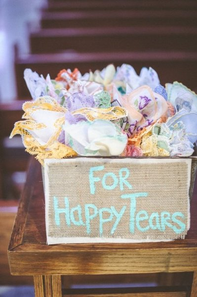 bridalsnob:  Mismatch handkerchiefs (super cute idea!) | photo by Paper Antler Photography