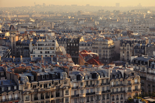 allthingseurope:  Sunrise in the city of light (by Christopher Mongeau)