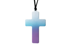 Pastel Dip Dye Cross Necklace