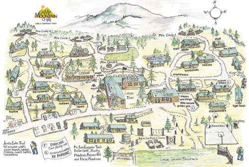 autostraddlecamp:  A-Camp grounds map.  Learn it, love it, live it.