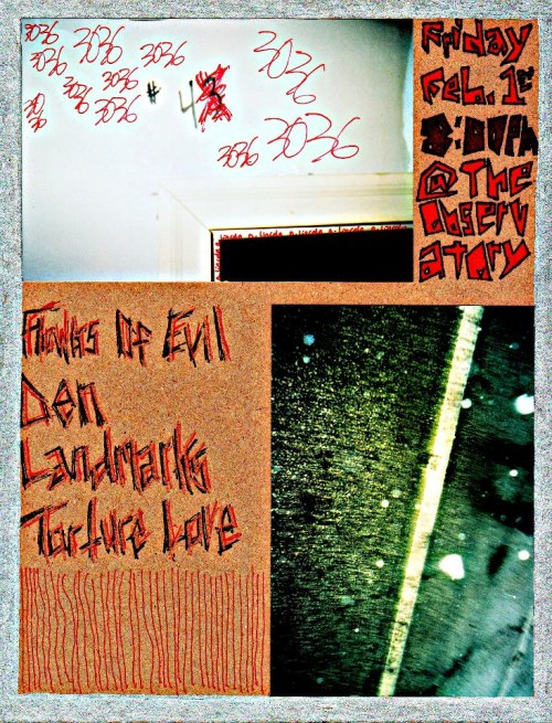 BLVD's extreme noisemaking punks DEN are playing TONIGHT (Friday 2/1) at The Observatory Studios (3036 N. Lincoln Ave.), joined by Torture Love (featuring Lauren of STARING PROBLEM!!), Flowers of Evil & Landmark! Also, in BLVD weekend roundup news…. The news about PINK FROST'S upcoming full-length LP on BLVD and Notes & Bolts made it to The Chicagoist… check it out HERE!Speaking of… the new Pink Frost single on Notes & Bolts Records is UP FOR SALE at the N&B webstore, RIGHT HERE!! NEW CANYONS N&B podcast HERE! BLVD's go-to DJ, DJ Peroxide, has a brand new N&B podcast HERE!POPULATION's limited-edition 2-song tour cassettes are available in VERY limited quantities at our sister-business record shop, Laurie's Planet of Sound in Chicago. We will have another round of very limited quantities available from our website next week!We're very pleased that Mahogany are readying a new featured video for their upcoming SXSW performance! If you didn't catch the new American Apparel mini-doc featuring an all-Mahogany soundtrack, click HERE! FAKE LIMBS are playing with PISSED JEANS, Chicago! Clear your calendars for April 18, because this show WILL RULE. More info HERE. More on this later, but check out this upcoming ambient/gaze/drone/experimental monthly in Chicago, hosted by Scott Cortez (Astrobrite, lovesliescrushing): DIVERGENT INTEREST.The first one is Thursday, March 7 at the Burlington, event info HERE!