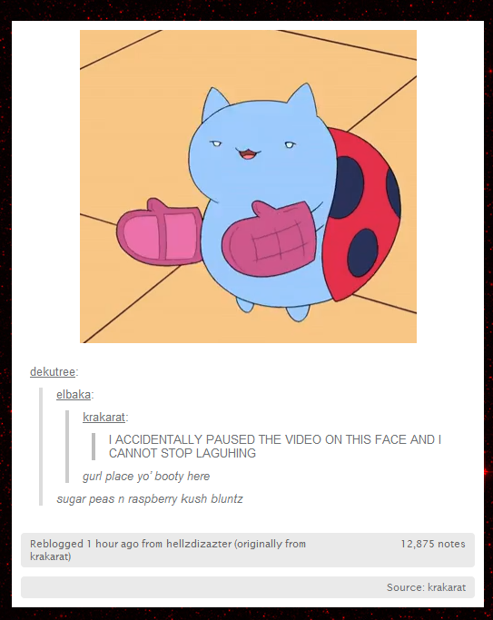 onesilencedbysociety:  Have some catbug looking high.