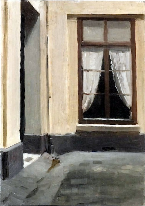 bofransson:  Edward Hopper - Interior Courtyard at 48 rue de Lille, Paris (1906)