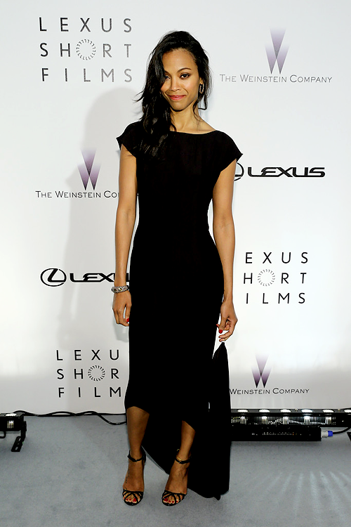 "Zoe Saldana attends the Lexus Short Film Series ""Life Is Amazing"" presented by The Weinstein Company and Lexus at Olympia Theatre."