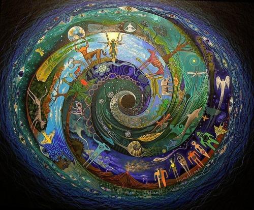 sam brown spiral pantheism art illustration design spirtual spirtituality