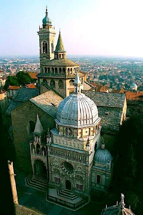 | ♕ |  Bergamo - view from Campanile  | by © italianvisits | via ysvoice
