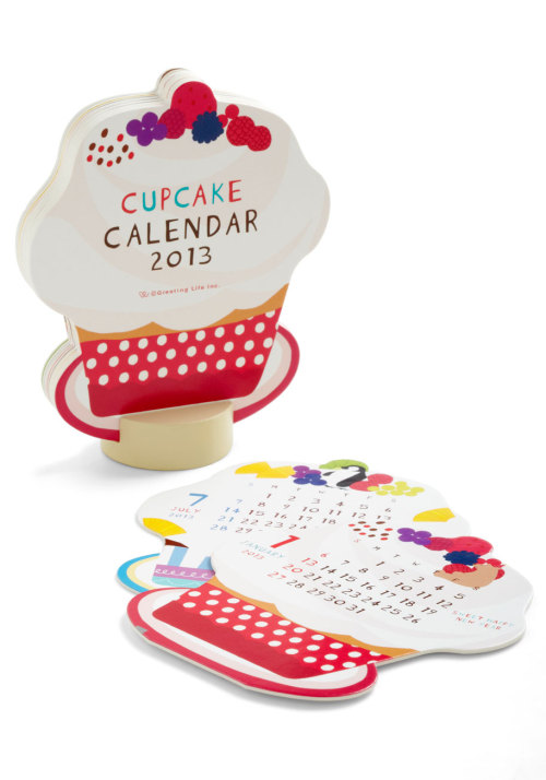 Add some sweetness to your week with the Sprinkle In Time 2013 Desk Calendar.