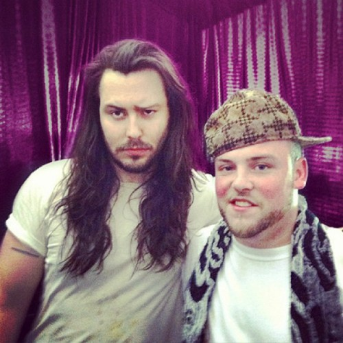 andrewwk:  Experiencing unusual emotions while partying with the world's awesomest scumbag! #scumbagsteve