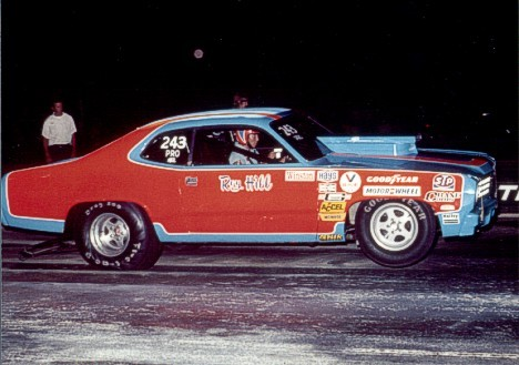 "Roy ""The Hillbilly"" Hill's Pro Stock Duster, he ran it out of the Petty shop in Level Cross North Carolina"