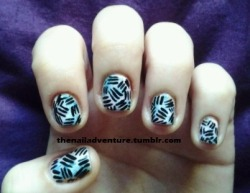 Lots of Lines Nail Art