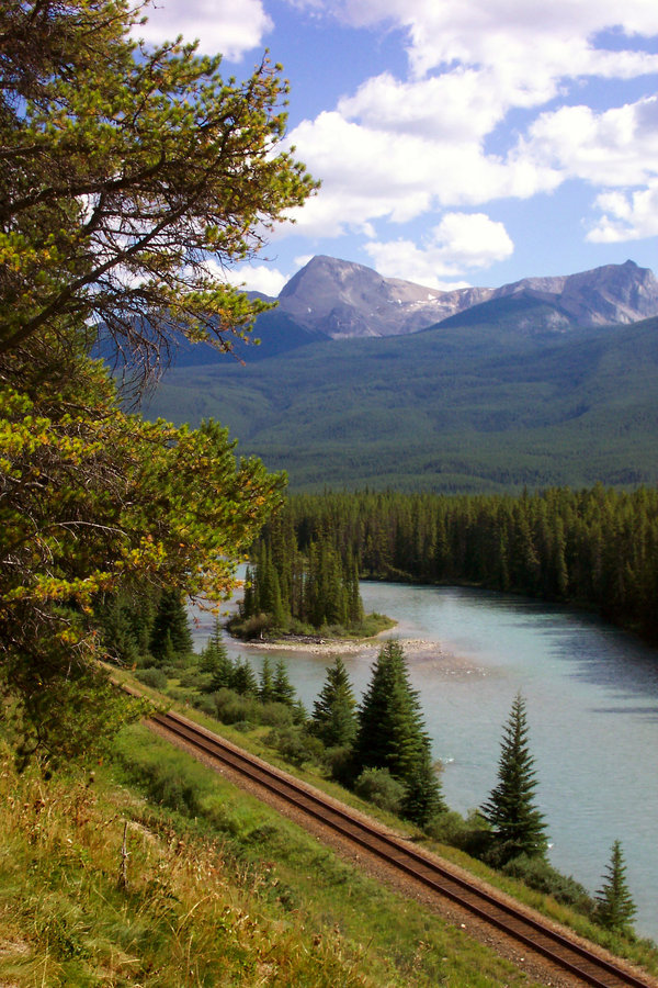 earth-song:  Railroad Tracks in Banff by *BeachGirlNikita