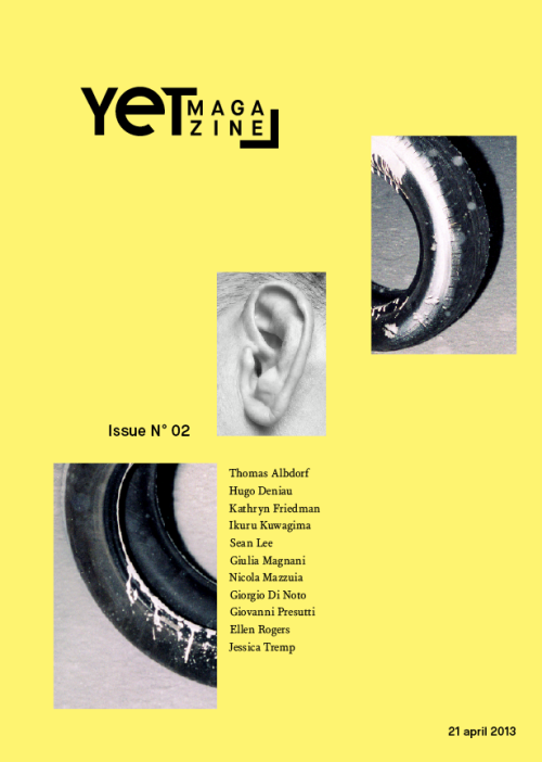 yetmagazine:  We're proud to present to you the second issue of YET magazine! A special thanks to all our featured photographers: Thomas Albdorf, Hugo Deniau, Kathryn Friedman, Sean Lee, Ikuru Kuwagima, Giulia Magnani, Nicola Mazzuia, Giorgio Di Noto, Giovanni Presutti, Ellen Rogers, Jessica Tremp. We hope you enjoy our inspiring selection of artists, and make sure you keep an eye out on our website for exciting news! www.yet-magazine.com