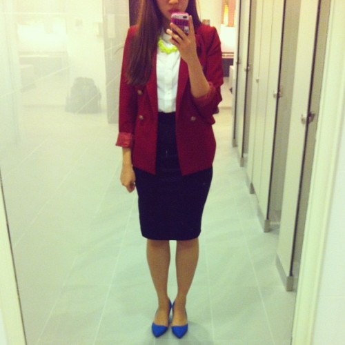 Suit up   #workday #worklife #workoutfit #ootd #outfit #ellielove #style #fashion #girl #girlonamission #beautifulthingsinlife #forjohn #igsg #igclub #sgig #sgstyle #iphonesia #iphoneography