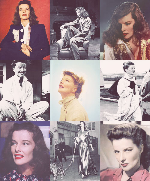 "clowies:  History Meme- 2/6 Women: Katharine Hepburn  Katharine Hepburn's career as as leading lady spanned more than 60 years. Her work came in a range of genres, from crazy comedies to literary drama, and she received four Academy Awards for Best Actress, a record for any performer. Hepburn shunned Hollywood publicity, and refused to conform to society's expectations of women. She was outspoken, assertive, athletic, and wore trousers before it was fashionable for women to do so. She openly promoted birth control and supported abortion and was vocal about not believing in religion or the afterlife. For this she was awarded the Humanist Arts Award in 1985. She was included in the book Women Who Changed The World, which honors 50 women who helped shape world history and culture. She is also named in Encyclopedia Britannica list of ""300 Women Who Changed the World"", Ladies Home Journal's book 100 Most Important Women of the 20th century, Variety magazine's ""100 Icons of the Century"",and she is number 84 on VH1's list of the ""200 Greatest Pop Culture Icons of All Time"". In 1999, the American Film Institute named Hepburn the ""greatest America screen legend"" among females."