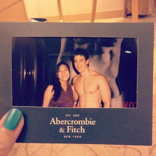 Don't question. Hahah my dear sister, @micheleleea  has 2! :p #abercrombie #abercrombie&fitch #a&f #pic #polariod #polaroidpic  (at Abercrombie & Fitch)