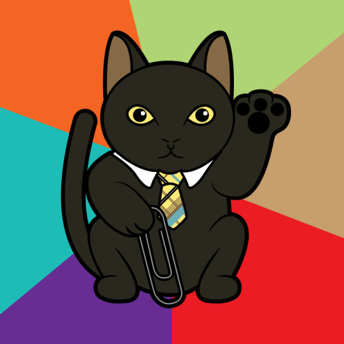 luckycatproject:  Maneki Bijinesu Business Cat - Part of my LOLcat series. Shirts | Kid Sizes | Stickers | CasesArtist's Tumblr