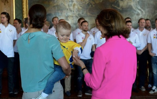 yoursweetremedy:  Estelle with her grandmother Queen Silvia