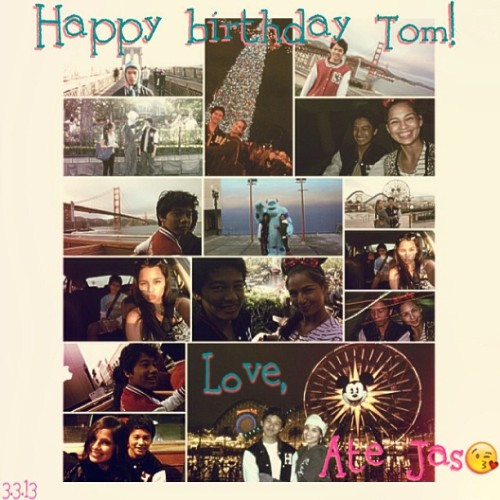 Happy happy happy birthday to one of my main boys @tomcurtissmith!! I wish I was there to celebrate this day with you, even though I know we'd still be in separate rooms on our laptops or lying down, watching TV together. Haha.  Our best times together may not be the wildest but I surely enjoy every moment bebe boy! I hope you have a blast today and I can't wait to see you in April!!! I love you, Tom!!! 😘