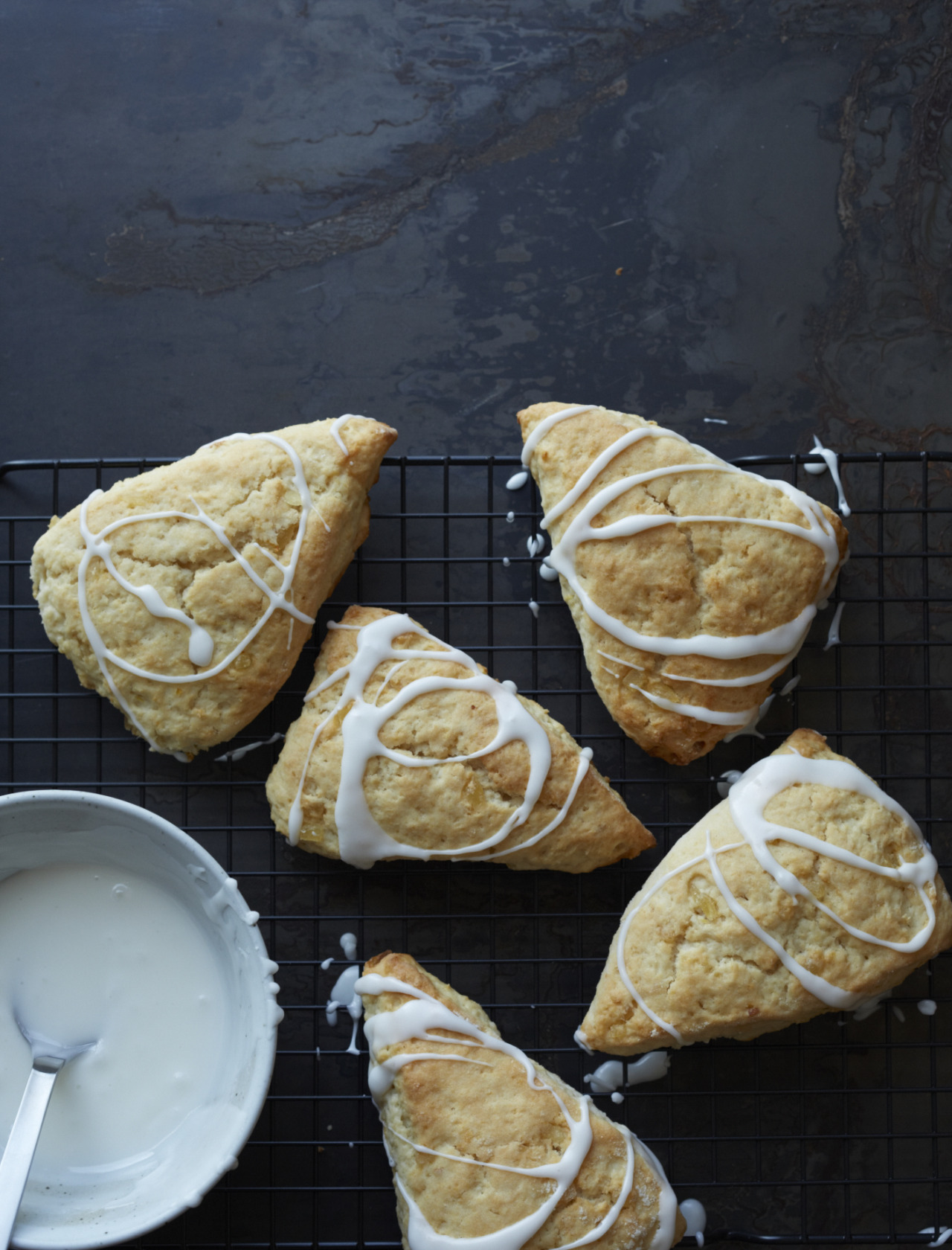 © Con PoulosGlazed Lemon-Ginger Scones RecipeContributed by Aimee OlexyClick here for full recipe
