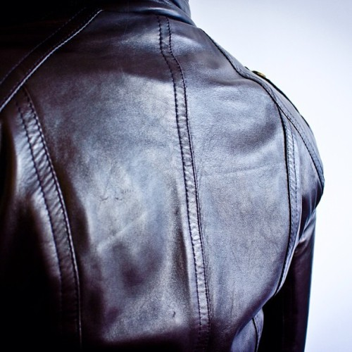The back view of the Petite Leather Jacket by #the16thbar #badass #petite #lambskin #leather #jacket #love